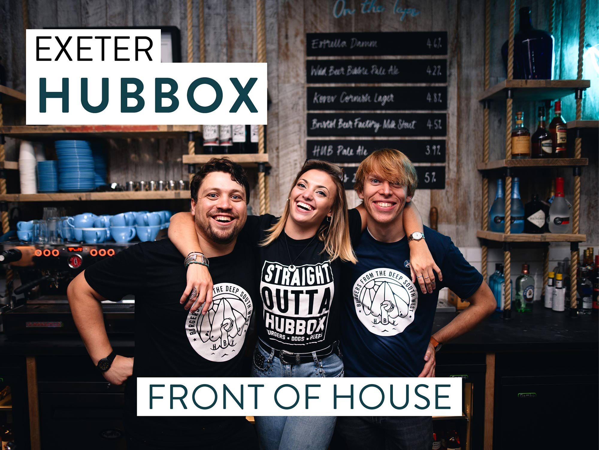 Hubbox Exeter recruitment front of house